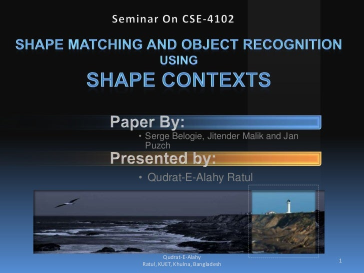 Shape matching and object recognition using shape contexts