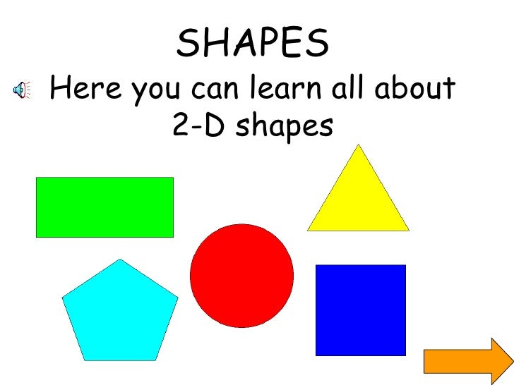 SHAPES Here you can learn all about 2-D shapes