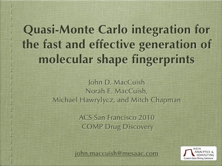 QMC-based Shape Fingerprints