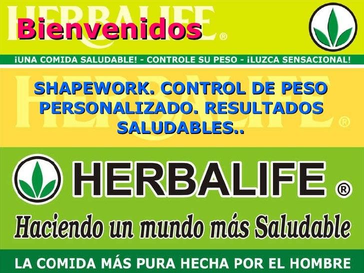 Bienvenidos SHAPEWORK. CONTROL DE PESO PERSONALIZADO. RESULTADOS SALUDABLES..