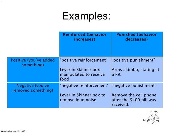 Positive Negative Reinforcement Coursework Writing Service