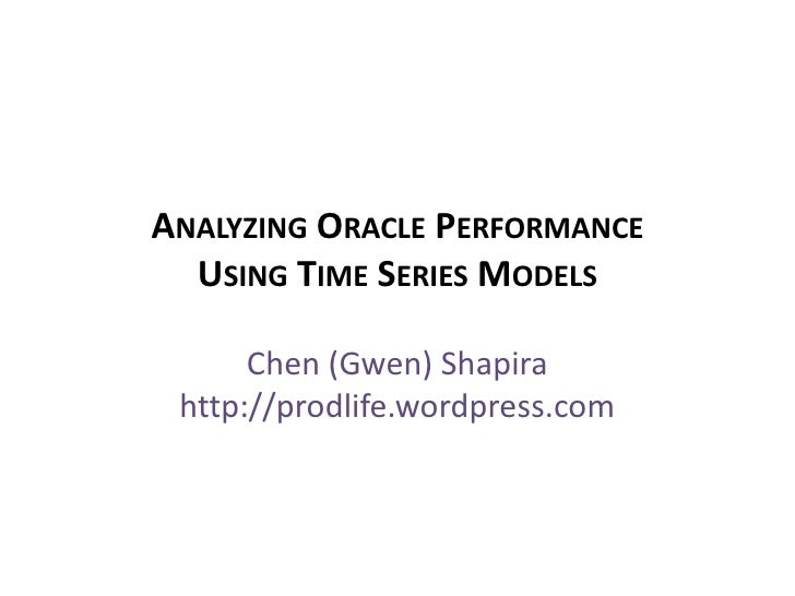 Database Performance Analysis with Time Series