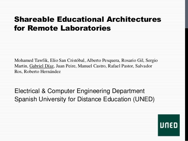 TAEE 2012- Shareable Educational Architectures for Remote Laboratories