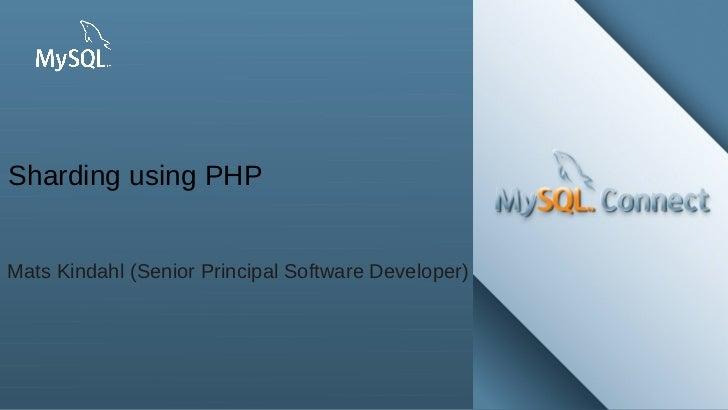 Sharding using MySQL and PHP