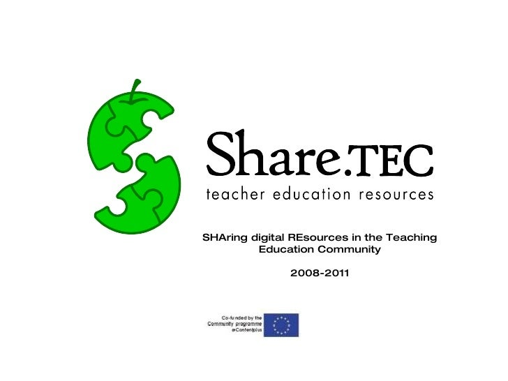 SHAring digital REsources in the Teaching Education Community 2008-2011