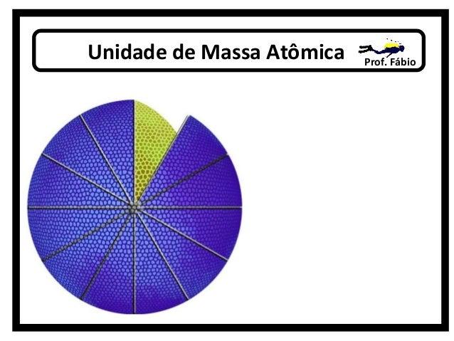 Unidade de Massa Atômica Prof. Fábio u.m.a