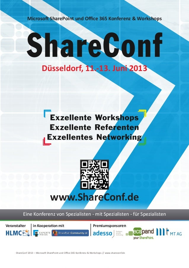 ShareConf 2013 - Microsoft SharePoint und Office 365 Konferenz & Workshops