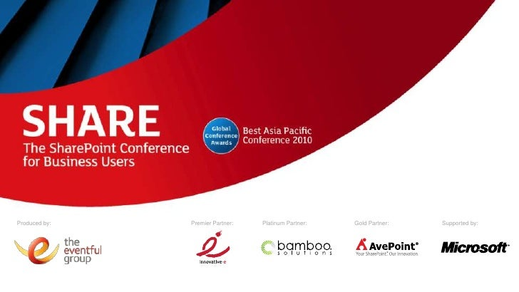 Share Conference - A Decade of SharePoint Deployment Best Practices