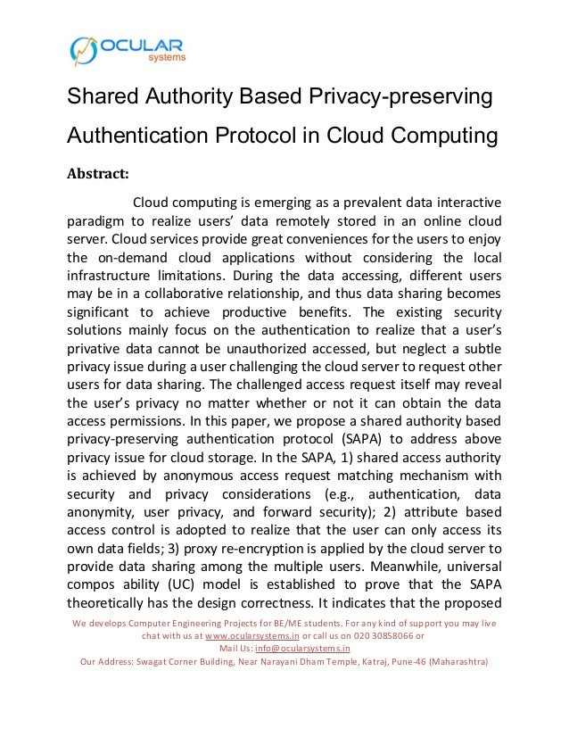 Authentication in cloud computing thesis