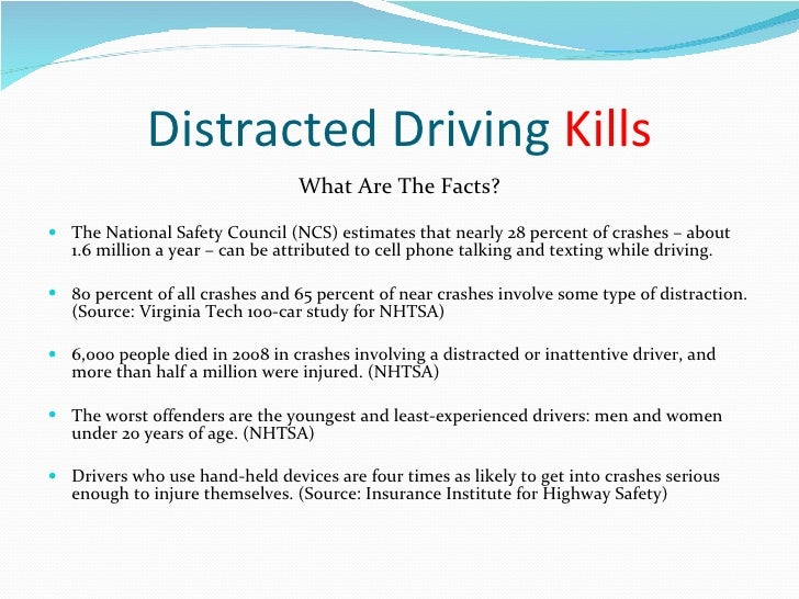 Distracted Driving Essay