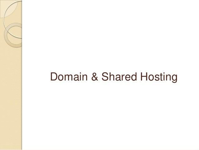 Domain & Shared hosting
