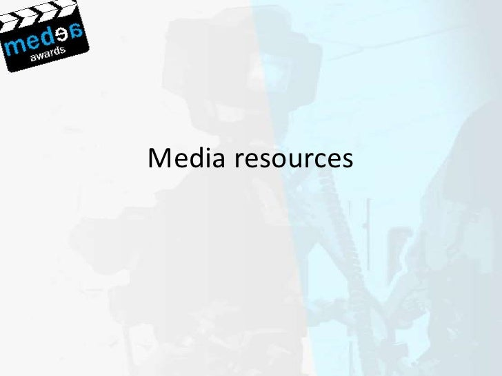 Shared resources Media and Learning MEDEA Workshop