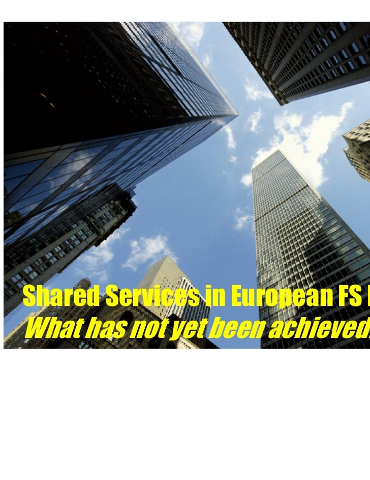 Shared Services in european FS market