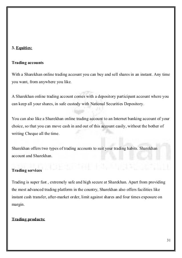 Brokerage for option trading in sharekhan