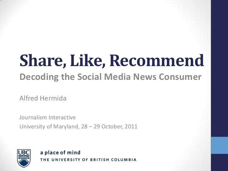 Share, Like, Recommend