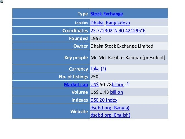 a report on dhaka stock exchange You are accessing the london stock exchange annual report service powered by precisionir the exchange accepts no responsibility for the content of the reports you are now accessing or for any reliance placed by you or any person on the information contained therein.