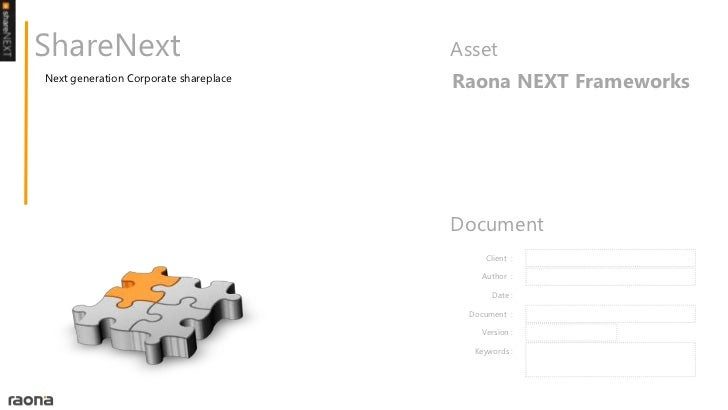 ShareNext                              AssetNext generation Corporate shareplace                                       Rao...