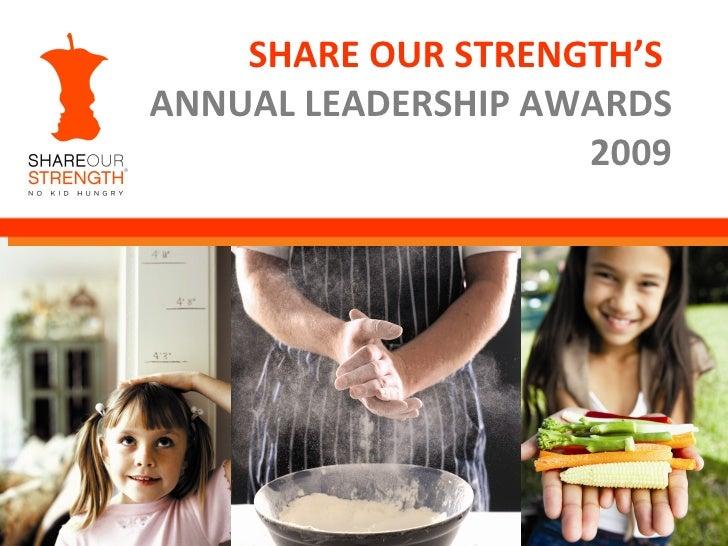 Share Our Strength Awards presentation