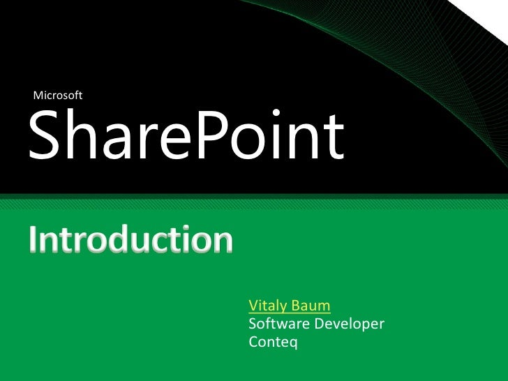 SharePoint Introduction