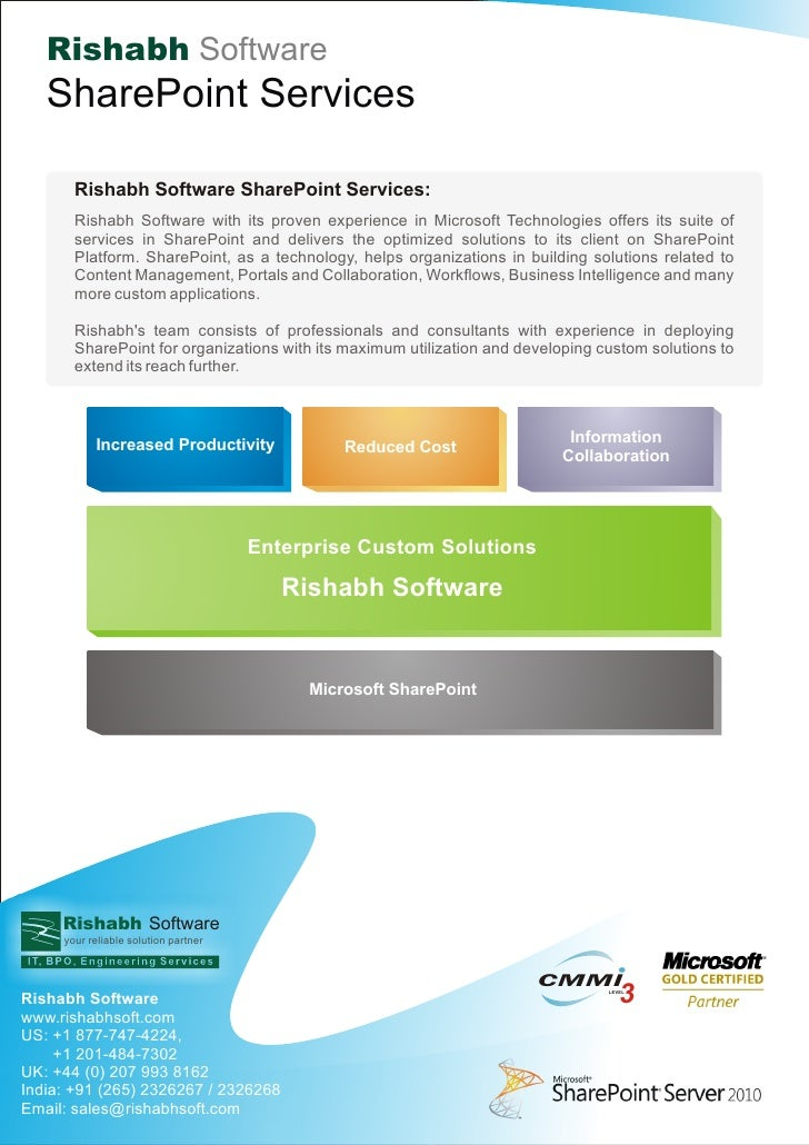 Rishabh Software   SharePoint Services       Rishabh Software SharePoint Services:       Rishabh Software with its proven ...