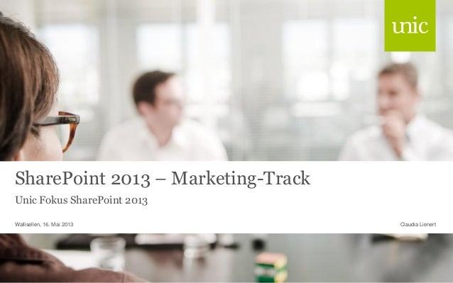 SharePoint 2013 - Marketing-Track