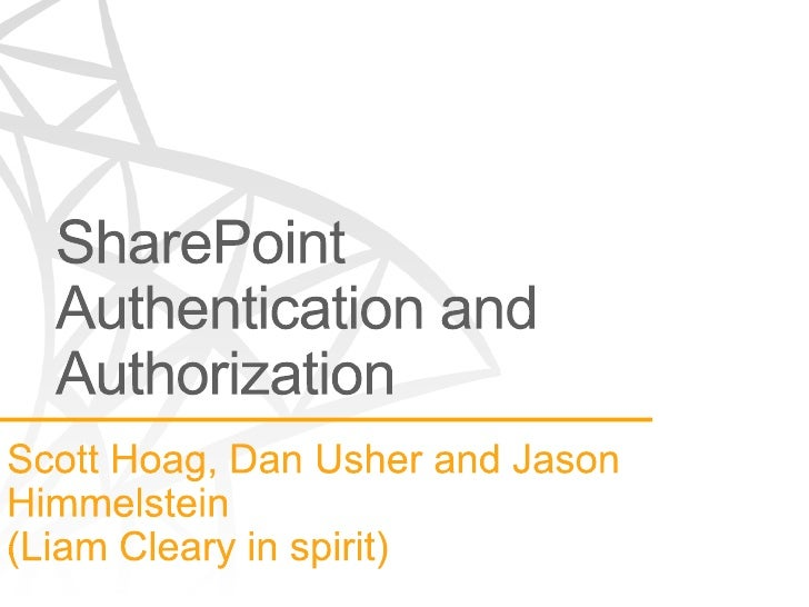 SharePoint Authentication and Authorization