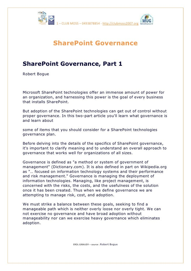 Share Point Governance