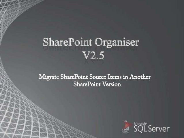 Sharepoint organiser