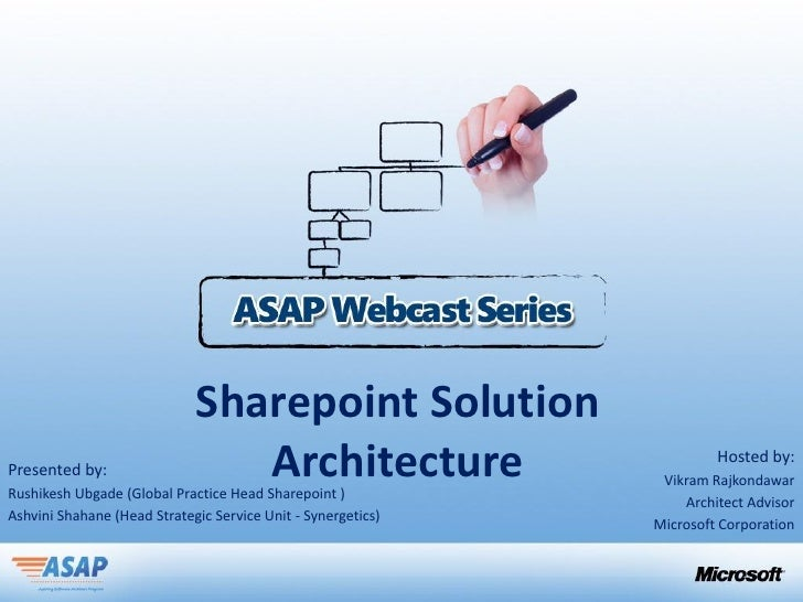 Sharepoint SolutionPresented by:                   ArchitectureRushikesh Ubgade (Global Practice Head Sharepoint )        ...
