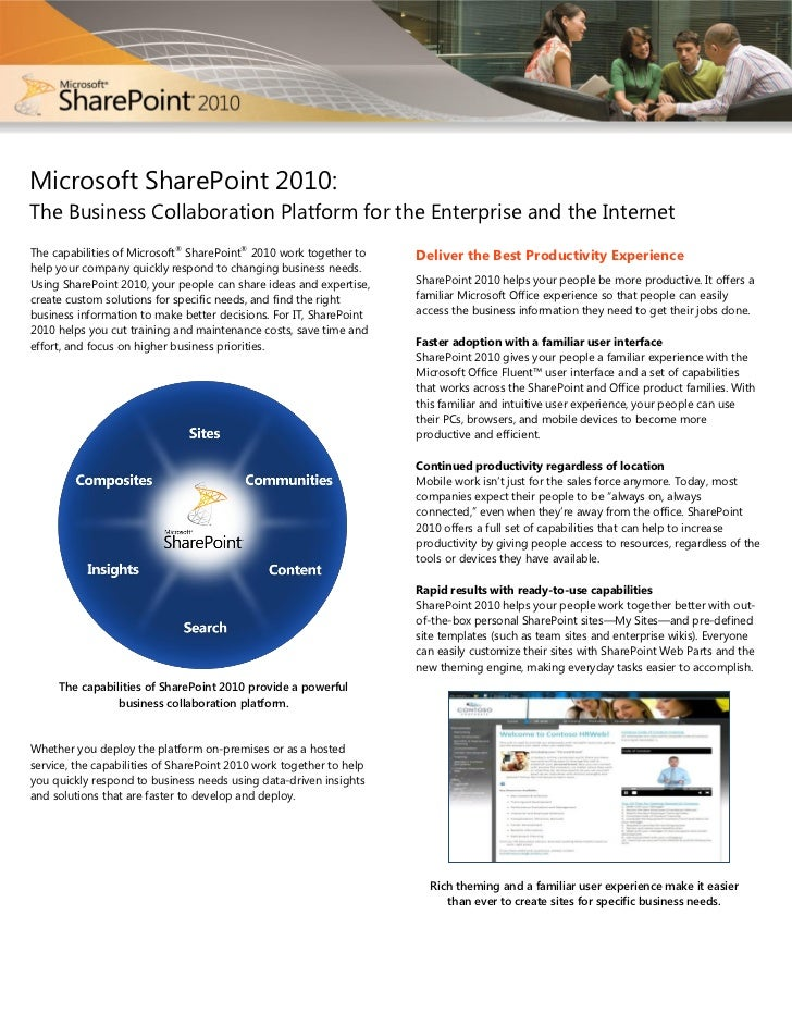 Microsoft SharePoint 2010:The Business Collaboration Platform for the Enterprise and the Internet                         ...