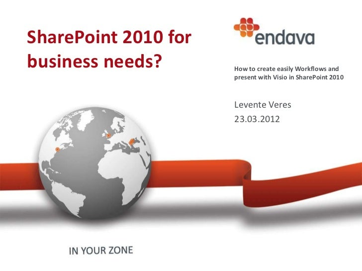 Endava @ CodeCamp Cluj  - SharePoint 2010 for business needs by Levente Veres