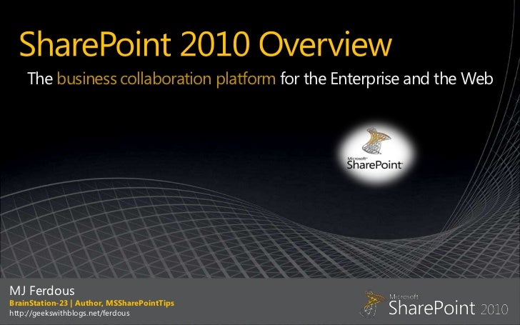 Share point 2010 overview