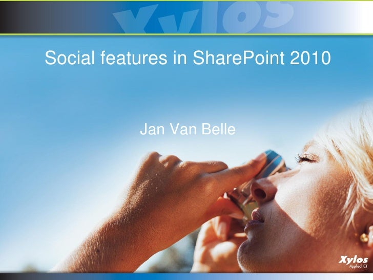 Sharepoint 2010 social features