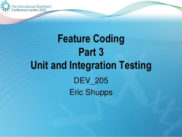 Share point 2010 unit and integration testing
