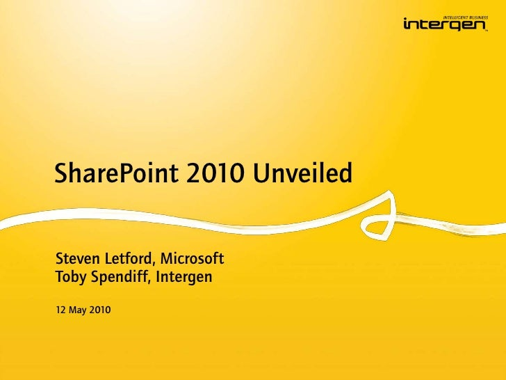 SharePoint 2010 Unveiled (Auckland)