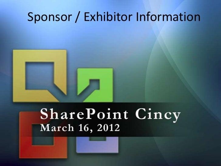 SharePoint Cincy Sponsorship Opportunities