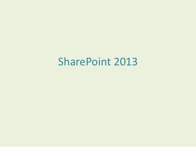 Share point 2013