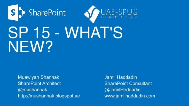 SharePoint 2013 - What's new