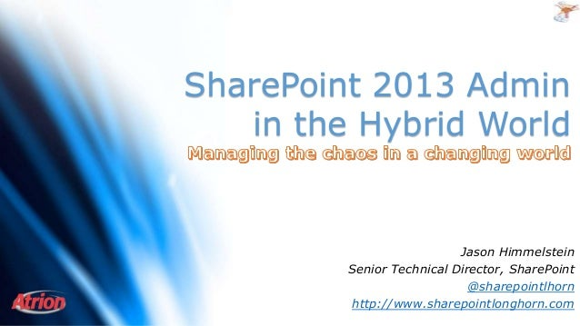 SharePoint 2013 Admin in the Hybrid World