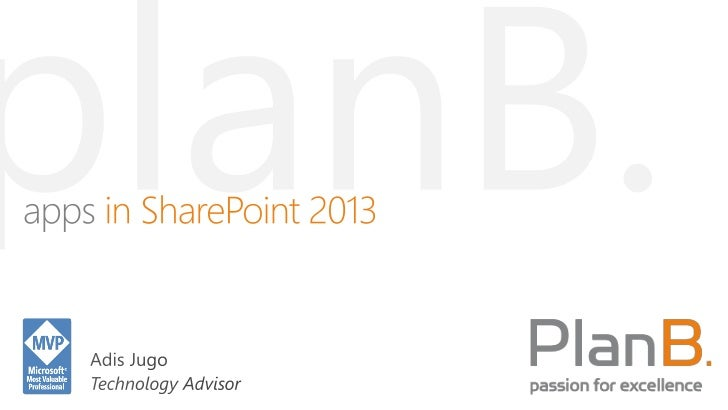 Enterprise apps in SharePoint 2013