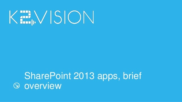 SharePoint 2013 apps overview