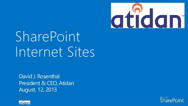 SharePoint 2013 for Internet Content Management - From Atidan