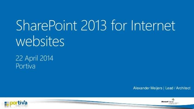 SharePoint 2013 for internet websites