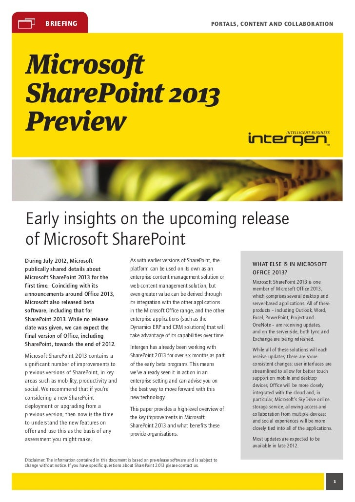 Microsoft SharePoint 2013 Preview