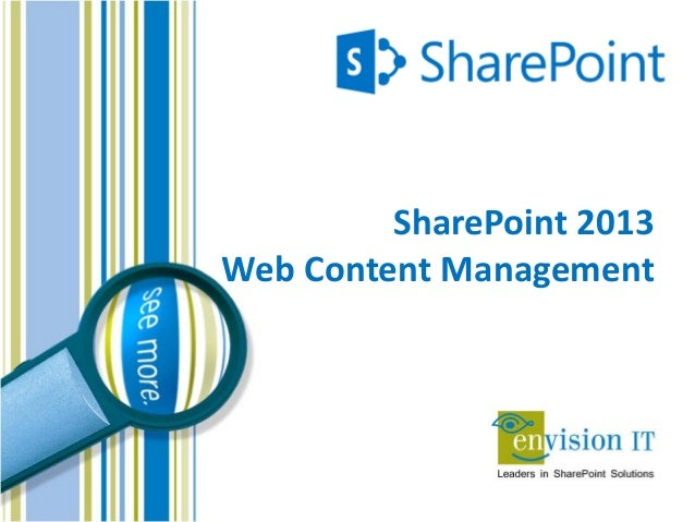 Envision IT - SharePoint 2013 Web Content Managment