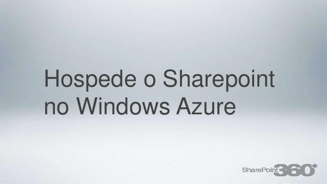 Hospede o Sharepointno Windows Azure