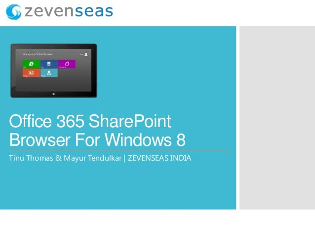 Office 365 SharePoint Browser For Windows 8