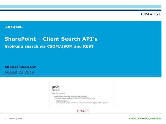 Share point – client search api's