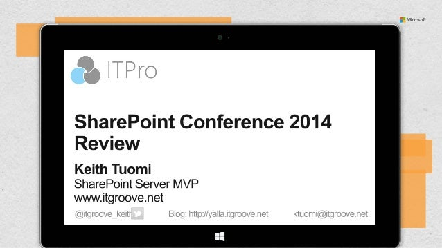 SharePoint Conference 2014 Review