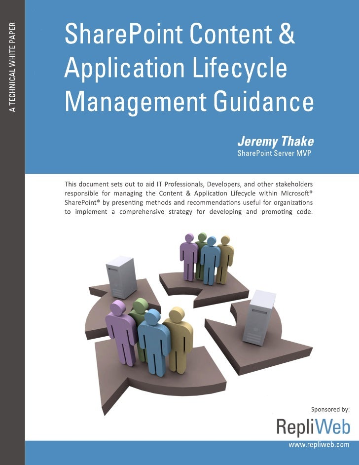 Share point content and application lifecycle management guidance